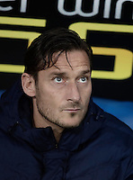 Calcio, Serie A: Roma, stadio Olimpico, 1marzo 2017.<br /> Roma's Francesco Totti waits for the start of the Italian TIM Cup 1st leg semifinal football match between Lazio and AS Roma at Rome's Olympic stadium, on March 1, 2017.<br /> UPDATE IMAGES PRESS/Isabella Bonotto
