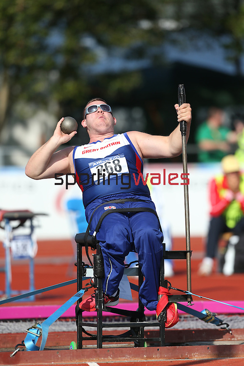 IPC European Athletics Championship 2014<br /> Kieran Tscherniawsky (GBR)<br /> Men's shot put F33<br /> Swansea University<br /> <br /> 21.08.14<br /> ©Steve Pope-SPORTINGWALES