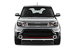 Car photography straight front view of a 2017 KIA Soul Exclaim 5 Door Hatchback Front View