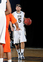 Florida International University guard Steven Miro (5) plays against Bowling Green State University, which won the game 61-53 on December 22, 2011 at Miami, Florida. .