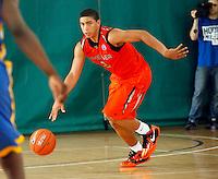 April 10, 2011 - Hampton, VA. USA;  James Robinson participates in the 2011 Elite Youth Basketball League at the Boo Williams Sports Complex. Photo/Andrew Shurtleff