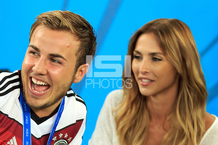 Mario Gotze of Germany with his girlfriend Ann-Kathrin Brommel