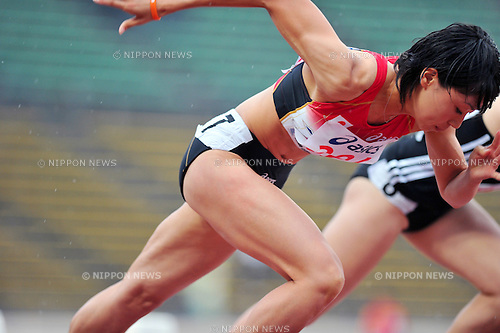 Kana Ichikawa (JPN), JULY 7, 2011 - Athletics :The 19th Asian Athletics Championships Hyogo/Kobe, Women's 100m Round 1 at Kobe Sports Park Stadium, Hyogo ,Japan. (Photo by Jun Tsukida/AFLO SPORT) [0003]