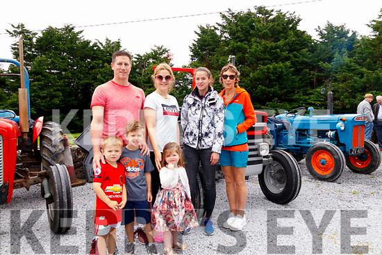 Visitors to the Asdee Vintage tractor run which was on last Sunday were <br /> Back from Left:<br /> John O'Sullivan, Gemma Collins, Maura Doran, Bernadette Doran.<br /> Front From Left:<br /> Shane Collins, Jc & Lily O'Sullivan.