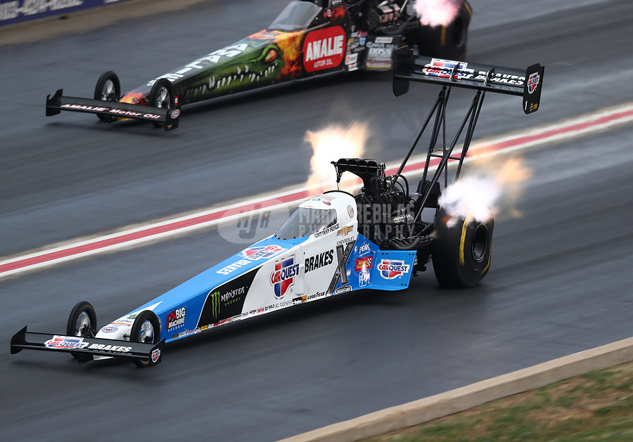 Jul 21, 2018; Morrison, CO, USA; NHRA top fuel driver Brittany Force during qualifying for the Mile High Nationals at Bandimere Speedway. Mandatory Credit: Mark J. Rebilas-USA TODAY Sports