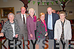 Pictured at the Ballyloughane School Reunion on sunday held at the Devon Inn were L-R : Mary O'Neill, Denis Curley, Joan Barrett, Nell Egan, Paddy O'neill and Joan Forde. They all attended the school together and were delighted to see each other.