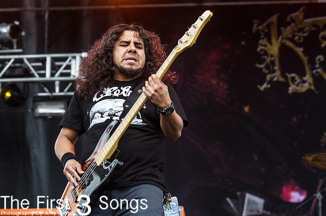 Tony Castaneda of Kyng performs during the 2014 Rock On The Range festival at Columbus Crew Stadium in Columbus, Ohio.