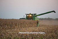 63801-07006 Farmer harvesting corn, Marion Co., IL