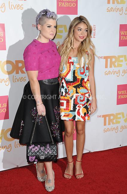 WWW.ACEPIXS.COM<br /> <br /> December 7 2014, LA<br /> <br /> Kelly Osbourne and Sarah Hyland (R) arriving at 'TrevorLIVE LA' Honoring Robert Greenblatt, Yahoo and Skylar Kergil for The Trevor Project at Hollywood Palladium on December 7, 2014 in Los Angeles, California<br /> <br /> By Line: Peter West/ACE Pictures<br /> <br /> <br /> ACE Pictures, Inc.<br /> tel: 646 769 0430<br /> Email: info@acepixs.com<br /> www.acepixs.com