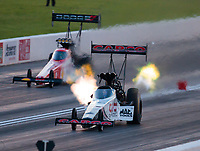 Jun 7, 2019; Topeka, KS, USA; NHRA top fuel driver Steve Torrence during qualifying fo the Heartland Nationals at Heartland Motorsports Park. Mandatory Credit: Mark J. Rebilas-USA TODAY Sports