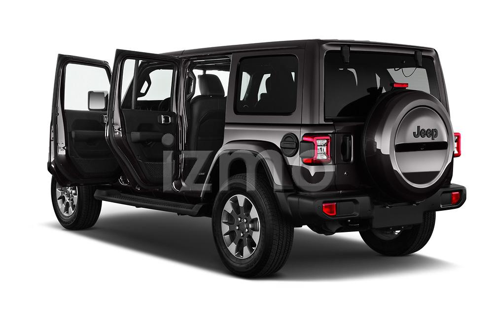 Car images close up view of a 2019 Jeep Wrangler Unlimited Sahara 5 Door SUV doors