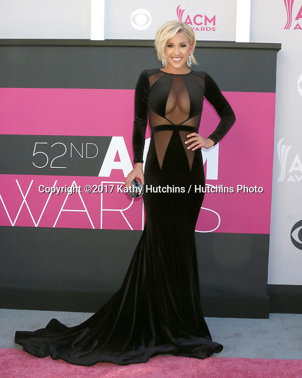 LAS VEGAS - APR 2:  Savannah Chrisley at the Academy of Country Music Awards 2017 at T-Mobile Arena on April 2, 2017 in Las Vegas, NV