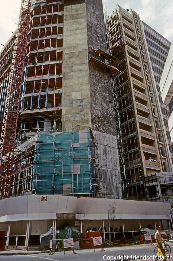 Singapore: Office Tower going up. Photo '83.