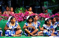 Dancers perform for the annual Raintree Festival on the island of Saipan.