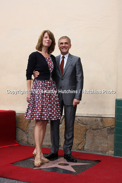 LOS ANGELES - DEC 1:  Jackie Waltz, Christoph Waltz at the Christoph Waltz Hollywood Walk of Fame Star Ceremony at the Hollywood Boulevard on December 1, 2014 in Los Angeles, CA