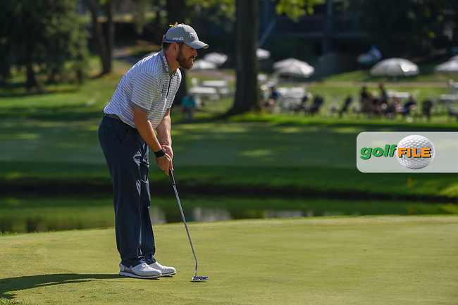Louis Oosthuizen (RSA) lines up his putt on 16 during 3rd round of the World Golf Championships - Bridgestone Invitational, at the Firestone Country Club, Akron, Ohio. 8/4/2018.<br /> Picture: Golffile | Ken Murray<br /> <br /> <br /> All photo usage must carry mandatory copyright credit (© Golffile | Ken Murray)