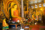Large Buddha statue at Gangaramaya Temple, Colombo, Sri Lanka,