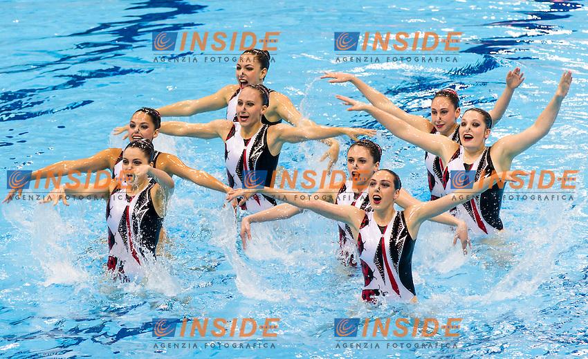 Team GBR<br /> London, Queen Elizabeth II Olympic Park Pool <br /> LEN 2016 European Aquatics Elite Championships <br /> Synchro<br /> Team technical final <br /> Day 01 09-05-2016<br /> Photo Giorgio Perottino/Deepbluemedia/Insidefoto