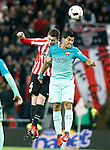Athletic de Bilbao's Aymeric Laporte (l) and FC Barcelona's Luis Suarez during Spanish Kings Cup match. January 05,2017. (ALTERPHOTOS/Acero)