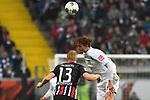 06.10.2019, Commerzbankarena, Frankfurt, GER, 1. FBL, Eintracht Frankfurt vs. SV Werder Bremen, <br /> <br /> DFL REGULATIONS PROHIBIT ANY USE OF PHOTOGRAPHS AS IMAGE SEQUENCES AND/OR QUASI-VIDEO.<br /> <br /> im Bild: Martin Hinteregger (Eintracht Frankfurt #13) gegen Josh Sargent (SV Werder Bremen #19)<br /> <br /> Foto © nordphoto / Fabisch