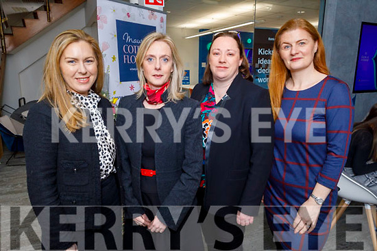 Aisling Quilter, Maeve Townsend, Bláithín McElligott and Catriona PY Collins attending the BoI Friday Breakfast Club International Women's Day at the Bank Of Ireland in Tralee on Friday