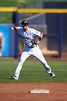 Peoria Javelinas Drew Jackson (18), of the Seattle Mariners organization, during a game against the Scottsdale Scorpions on October 22, 2016 at Peoria Stadium in Peoria, Arizona.  Peoria defeated Scottsdale 3-2.  (Mike Janes/Four Seam Images)
