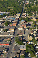 Aerials of Petrolia, Wyoming, Reece's Corner, farmland, highway, commercial, residential, industry. For Petrolia  Independent