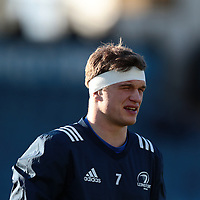 12th January 2020; RDS Arena, Dublin, Leinster, Ireland; Heineken Champions Champions Cup Rugby, Leinster versus Lyon Olympique Universitaire; Josh van der Flier (Leinster) warms up before the match - Editorial Use