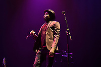 LONDON, ENGLAND - AUGUST 11: Aliou Touré of 'Songhoy Blues' performing at Nile Rodgers' Meltdown at Royal Festival Hall on August 11, 2019 in London, England.<br /> CAP/MAR<br /> ©MAR/Capital Pictures
