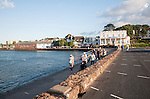 Historic buildings on the seafront at Paignton, Devon, England, UK