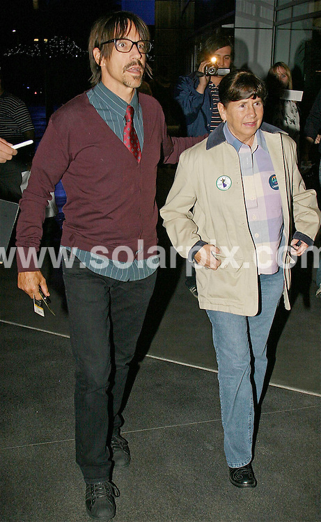 **ALL ROUND PICTURES FROM SOLARPIX.COM**.**WORLDWIDE SYNDICATION RIGHTS EXCEPT FOR USA, AUSTRALIA & GERMANY**.Anthony Kiedis from the Red Hot Chili Peppers, going out for dinner with his mother, in Hollywood, California, USA. 11th November 2008..JOB REF: 7860 LAS       DATE: 11_11_2008.**MUST CREDIT SOLARPIX.COM OR DOUBLE FEE WILL BE CHARGED* *UNDER NO CIRCUMSTANCES IS THIS IMAGE TO BE REPRODUCED FOR ANY ONLINE EDITION WITHOUT PRIOR PERMISSION*