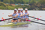 Rowing, Women's Four, Mara Allen, Grace Luczak, Adrienne Martelli, Alison Cox, stroke, heat race, US national rowing team, 2010 FISA World Rowing Championships, Lake Karapiro, Hamilton, New Zealand,