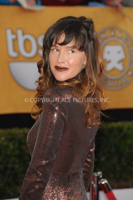 WWW.ACEPIXS.COM . . . . . ....January 30 2011, Los Angeles....Paz de la Huerta arriving at the 17th Annual Screen Actors Guild Awards held at The Shrine Auditorium on January 30, 2011 in Los Angeles, CA....Please byline: PETER WEST - ACEPIXS.COM....Ace Pictures, Inc:  ..(212) 243-8787 or (646) 679 0430..e-mail: picturedesk@acepixs.com..web: http://www.acepixs.com