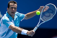 Radek Stepanek (CZE) against Ivo Karlovic (CRO) in the First Round of the Mens Singles.  Karlovic beat Stepanek 2-6 7-6 (5) 6-4 3-6 6-4..International Tennis - Australian Open Tennis - Mon 18 Jan 2010 - Melbourne Park - Melbourne - Australia ..© Frey - AMN Images, 1st Floor, Barry House, 20-22 Worple Road, London, SW19 4DH.Tel - +44 20 8947 0100.mfrey@advantagemedianet.com
