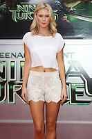 WESTWOOD, LOS ANGELES, CA, USA - AUGUST 03: Virginia Gardner at the Los Angeles Premiere Of Paramount Pictures' 'Teenage Mutant Ninja Turtles' held at Regency Village Theatre on August 3, 2014 in Westwood, Los Angeles, California, United States. (Photo by Celebrity Monitor)