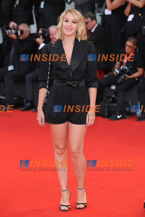 "VENICE, ITALY - AUGUST 28: Ludivine Saigneri walks the red carpet ahead of the Opening Ceremony and the ""La Verite"" (The Truth) screening during the 76th Venice Film Festival at Sala Grande on August 28, 2019 in Venice, Italy., 2019 in Venice, Italy. (Photo by Marck Cape/Inside Foto)<br /> Venezia 28/08/2019"