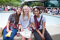 Alumni Association Senior Celebration at the Hunter Henry Center : Seniors Lindy Land (lck131), Rachel Witherspoon (rlw468), and Jasmine Curtis (jc1293)<br />  (photo by Megan Bean / &copy; Mississippi State University)