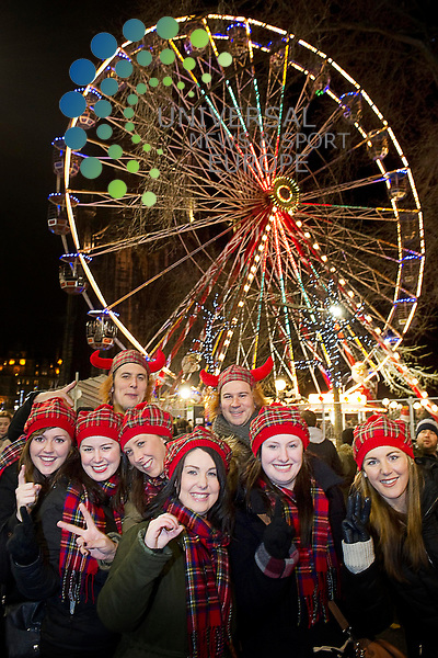 People from all over the world gather on Princes Street to celebrate the arrival of the new year, Edinburgh, Scotland, 31st December, 2012..Picture:Scott Taylor Universal News And Sport (Europe) .All pictures must be credited to www.universalnewsandsport.com. (Office)0844 884 51 22.