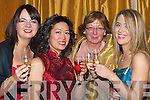 CHEERS: Toasting a great night at the Tralee Bay Sailing Club dinner and dress dance in the Ballygarry House Hotel & Spa on Saturday night were l-r: Triona Desmond, Chifan Cheuk, Joyce Walsh and Emer Quill.   Copyright Kerry's Eye 2008