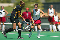 2 September 2005: Jessica Zutz during Stanford's 3-1 loss to the University of Iowa at the Varsity Turf Field in Stanford, CA.