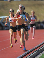 Camille Buscomb competes in the senior women's 1500m final on day three of the 2015 National Track and Field Championships at Newtown Park, Wellington, New Zealand on Sunday, 8 March 2015. Photo: Dave Lintott / lintottphoto.co.nz