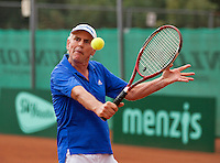 Netherlands, Amstelveen, August 21, 2015, Tennis,  National Veteran Championships, NVK, TV de Kegel,  Frank van Lerven<br /> Photo: Tennisimages/Henk Koster