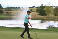 Haydn Porteous (RSA) on the 9th green during Round 4 of the D+D Real Czech Masters at the Albatross Golf Resort, Prague, Czech Rep. 03/09/2017<br /> Picture: Golffile   Thos Caffrey<br /> <br /> <br /> All photo usage must carry mandatory copyright credit     (&copy; Golffile   Thos Caffrey)