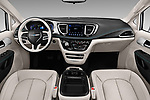 Stock photo of straight dashboard view of 2017 Chrysler Pacifica-Hybrid Platinum 5 Door Minivan Dashboard