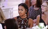 Sasha Obama attends a state dinner at the White House honoring Prime Minister Justin Trudeau and Mrs. Sophie Gr&eacute;goire Trudeau of Canada March 10, 2016 in Washington, DC. <br /> Credit: Olivier Douliery / Pool via CNP