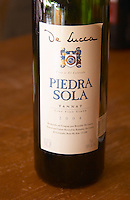 A bottle of R de Lucca Piedra Sola Tannat Vino de El Colorado 2004 Bodega De Lucca Winery, El Colorado, Progreso, Uruguay, South America
