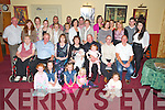 Jamie Heffernan, Dungeel, Killorglin, pictured with his parents Mary and John, sister Orla, godparents Brenda O'Brien and Vincent Heffernan, family and friends at his christening celebrations in The Manor Inn, Killorglin on Sunday.................................................................................................