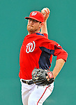 7 March 2012: Washington Nationals pitcher Ryan Mattheus on the mound against the St. Louis Cardinals at Space Coast Stadium in Viera, Florida. The teams battled to a 3-3 tie in Grapefruit League Spring Training action. Mandatory Credit: Ed Wolfstein Photo