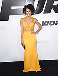 Nathalie Emmanuel attends The Universal Pictures World Premiere of Furious 7 held at The TCL Chinese Theatre IMAX Theater  in Hollywood, California on April 01,2015                                                                               © 2015 Hollywood Press Agency