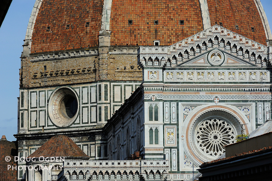Closer view of Duomo and Facade, Florence, Italy